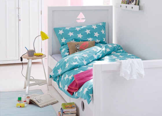children's bedroom furniture - modern white bed for boys