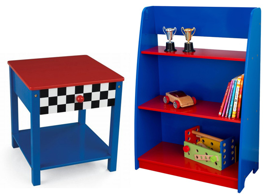 children's bedroom furniture - range of theme bedside cabinets and shelves